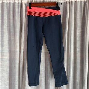 Lululemon crop leggings with layered waistband